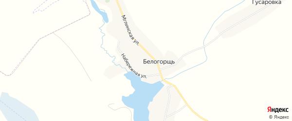 Карта села Белогорщь в Брянской области с улицами и номерами домов