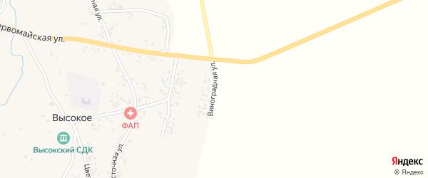 Виноградная улица на карте Высокого села с номерами домов