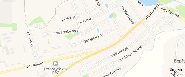Западная улица на карте Стародуб с номерами домов