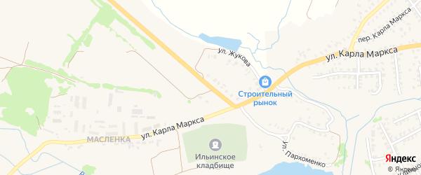 Улица Винокурова на карте Стародуб с номерами домов