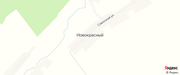 Комсомольская улица на карте Новокрасного поселка с номерами домов