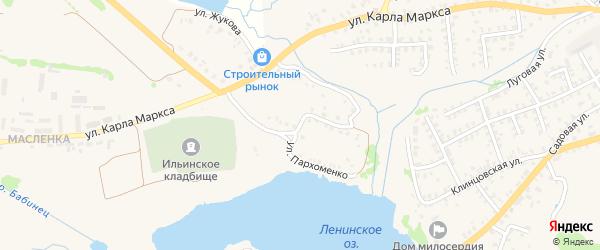 Улица Пархоменко на карте Стародуб с номерами домов