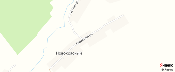 Совхозная улица на карте Новокрасного поселка с номерами домов