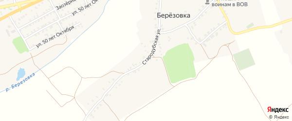 Стародубская улица на карте деревни Березовки с номерами домов