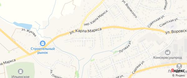 Миклухо-Маклая улица на карте Стародуб с номерами домов