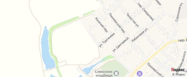 Гомельский переулок на карте Стародуб с номерами домов