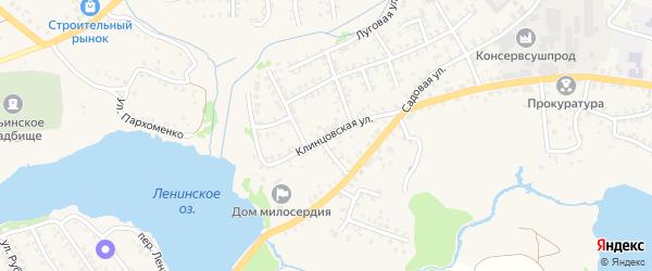 Клинцовская улица на карте Стародуб с номерами домов