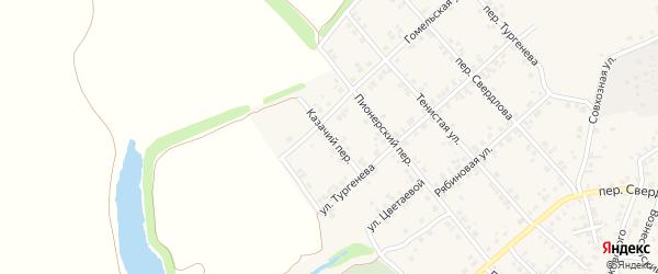 Казачий переулок на карте Стародуб с номерами домов