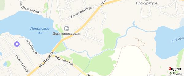 Переулок Кабанова на карте Стародуб с номерами домов