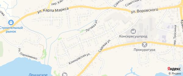 Улица Комарова на карте Стародуб с номерами домов