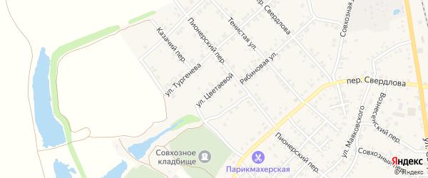 Улица Цветаевой на карте Стародуб с номерами домов