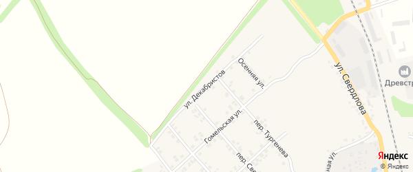 Улица Декабристов на карте Стародуб с номерами домов