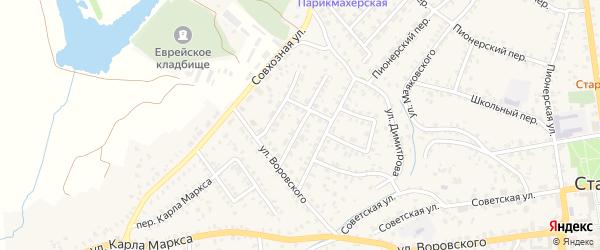 Кооперативная улица на карте Стародуб с номерами домов