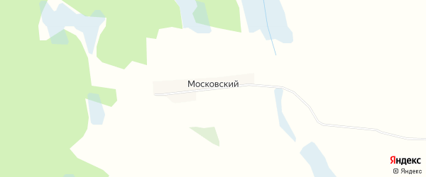 Карта Московского поселка в Брянской области с улицами и номерами домов