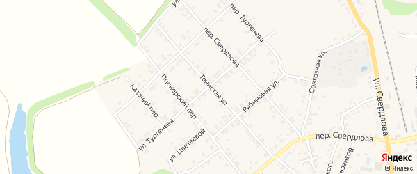 Улица Тургенева на карте Стародуб с номерами домов