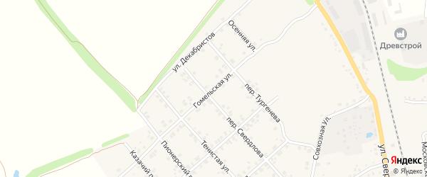 Гомельская улица на карте Стародуб с номерами домов