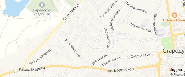 Кооперативный переулок на карте Стародуб с номерами домов