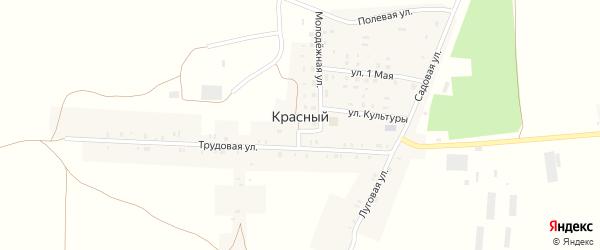 Трудовая улица на карте Красного поселка с номерами домов