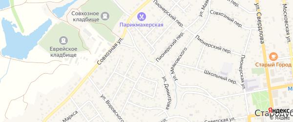 Улица Димитрова на карте Стародуб с номерами домов