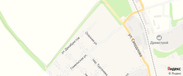 Осенняя улица на карте Стародуб с номерами домов