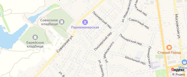 Молодежная улица на карте Стародуб с номерами домов