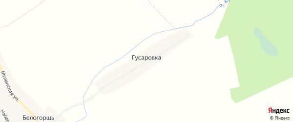 Карта поселка Гусаровки в Брянской области с улицами и номерами домов