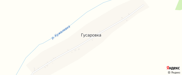 Садовая улица на карте поселка Гусаровки с номерами домов