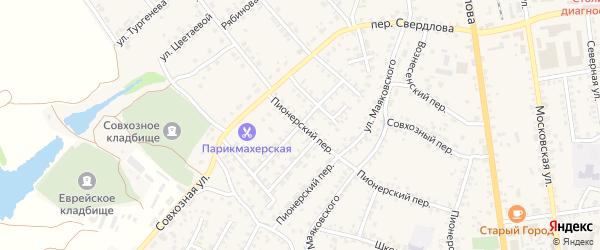Улица Мичурина на карте Стародуб с номерами домов