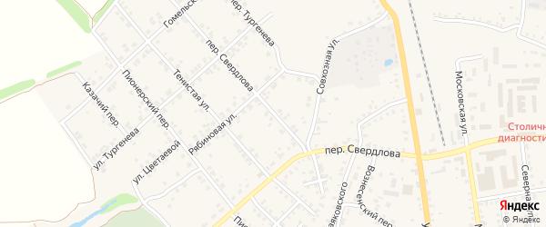 Переулок Свердлова на карте Стародуб с номерами домов