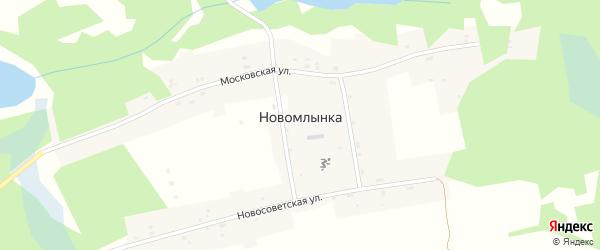 Новосоветская улица на карте села Новомлынки с номерами домов