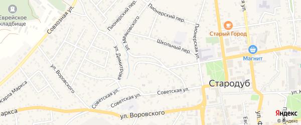 Переулок Маяковского на карте Стародуб с номерами домов
