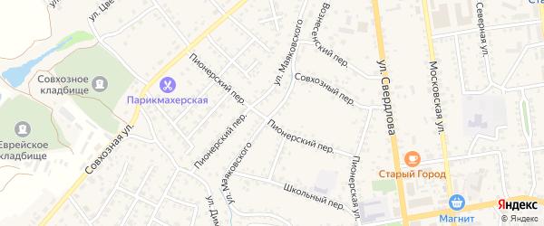 Улица Маяковского на карте Стародуб с номерами домов