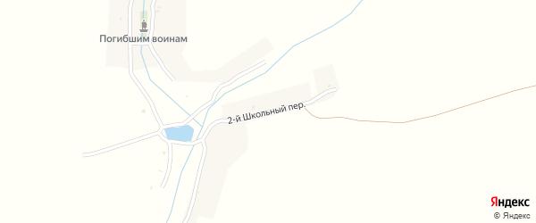 2-й Школьный переулок на карте Буды-Вовницкой деревни с номерами домов