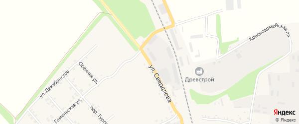 Улица Свердлова на карте Стародуб с номерами домов
