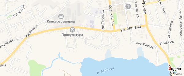 Улица Веревченко на карте Стародуб с номерами домов