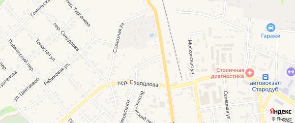 Вокзальный переулок на карте Стародуб с номерами домов