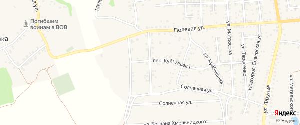 Песчаная улица на карте Стародуб с номерами домов