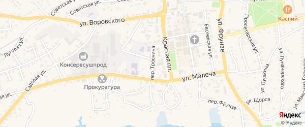 Переулок Троснина на карте Стародуб с номерами домов