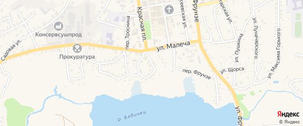 Улица Крупской на карте Стародуб с номерами домов