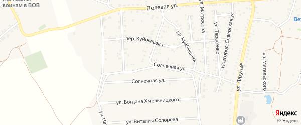 Солнечная улица на карте Стародуб с номерами домов