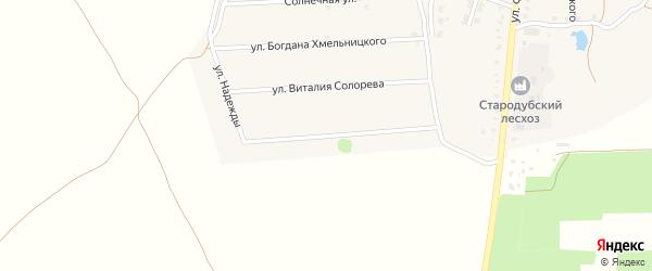 Улица Надежды на карте Стародуб с номерами домов
