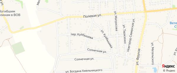 Дачная улица на карте Стародуб с номерами домов