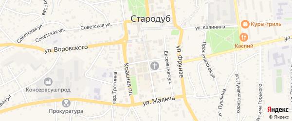 Улица Осипенко на карте Стародуб с номерами домов