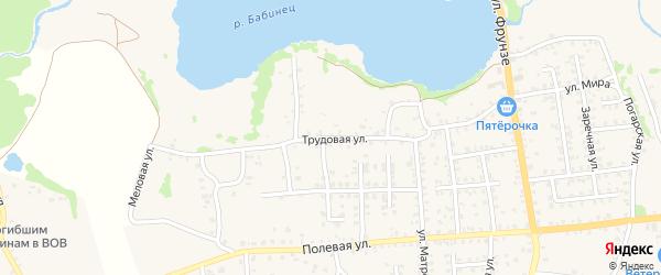 Трудовая улица на карте Стародуб с номерами домов