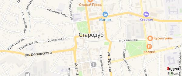 Улица Михаила Миклашевского на карте Стародуб с номерами домов