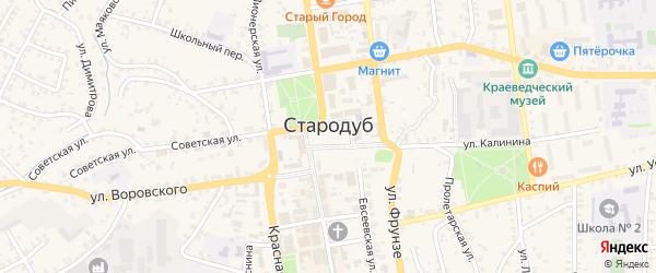 Лесная улица на карте Стародуб с номерами домов