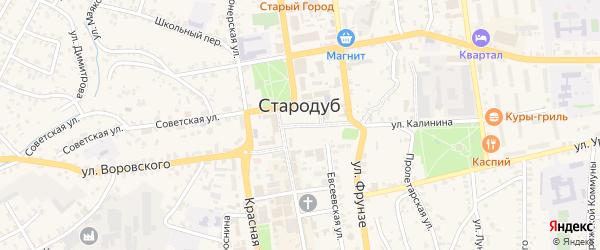 Советская площадь на карте Стародуб с номерами домов