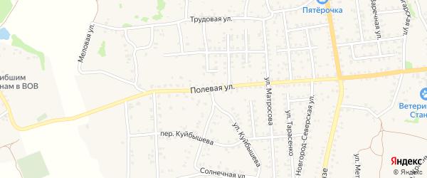 Полевая улица на карте Стародуб с номерами домов