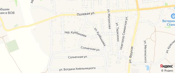 Переулок Куйбышева на карте Стародуб с номерами домов