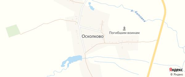 Восточный переулок на карте села Осколково с номерами домов